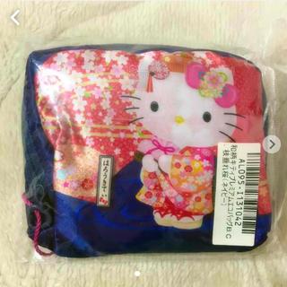 サンリオ - 和柄 キティ プレミアム エコバッグ 枝垂れ桜 ネイビー