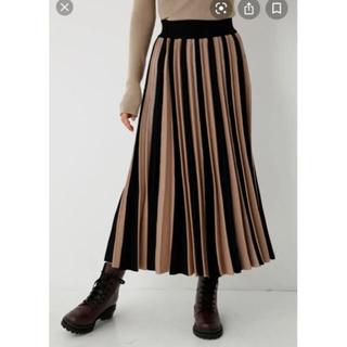シェルターオリジナル(Shel'tter ORIGINAL)の【SHEL'TTER】Bi Color Pleats Skirt スカート(ロングスカート)