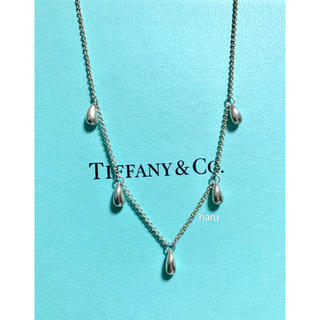 Tiffany & Co. - 希少TIFFANY&Co. ティファニードロップネックレスシルバー