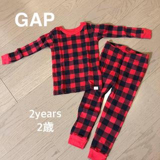 babyGAP - babyGap チェックパジャマセット 赤