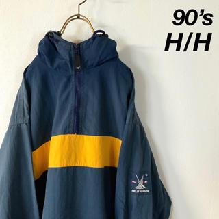 HELLY HANSEN - 90's HELLY HANSEN バイカラー ハーフジップ アノラックパーカー