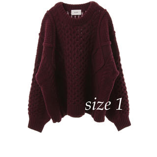STUDIOUS - 最終価格【CLANE】3D CABLE WIDE KNIT TOPS ボルドー