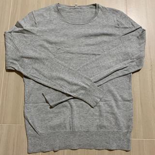 ムジルシリョウヒン(MUJI (無印良品))の無印良品 MUJI シルク混シンプルニットセーター S(ニット/セーター)