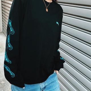 ロンT (ブラック)(Tシャツ/カットソー(七分/長袖))