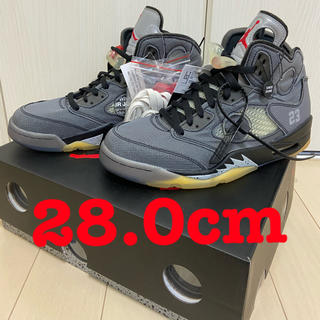 OFF-WHITE - OFF-WHITE × NIKE AIR JORDAN5 エアジョーダン 5