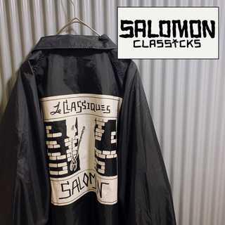 SALOMON - SALOMON コーチジャケット バックプリント