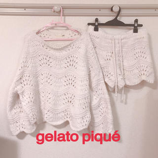 gelato pique - ジェラートピケ ルームウェア セットアップ 美品