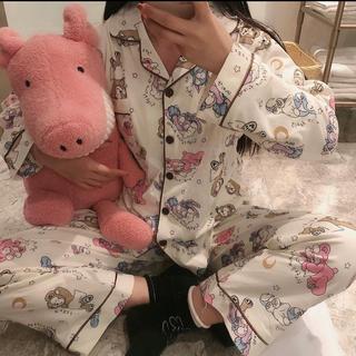 ダッフィー(ダッフィー)の日本未発売 ダッフィーフレンズ パジャマ ルームウェア XL アイマスク付き(パジャマ)
