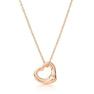 Tiffany & Co. - 幅11mm ティファニー オープンハート ローズゴールド ネックレス
