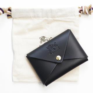 IL BISONTE - 新品 イルビゾンテ カードケース オリガミ 名刺入れ コインケース ブラック 黒