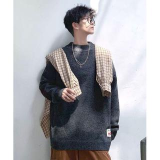 ハレ(HARE)の【neos】オーバーサイズ モックネック エルボーパッチ ニット セーター(ニット/セーター)