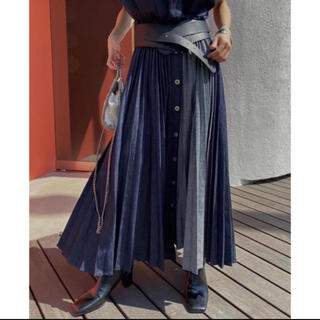 Ameri VINTAGE - Ameri VINTAGE DENIM PLEATS SKIRT