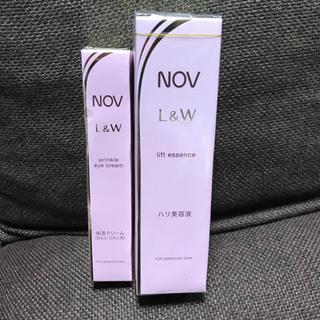 NOV - 新品未開封 ノブ L&W リフトエッセンス & リンクルアイクリーム セット