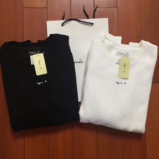 agnes b. - agnes b.定番L黒白2枚セットアニエス・ベー スウェット新品