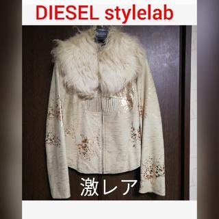 ディーゼル(DIESEL)の⚡激レア⚡ほぼ一点物*° ファー付き レザージャケット/DIESEL レディース(毛皮/ファーコート)