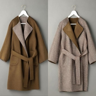 BEAUTY&YOUTH UNITED ARROWS - <6(ROKU)>REVER SEWING GOWN COAT リバーコート
