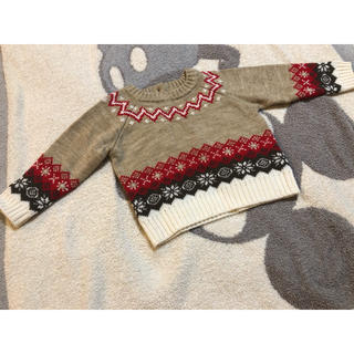 COMME CA ISM - コムサイズムノルディック柄セーター