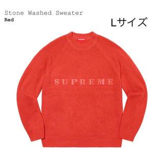 Supreme - supreme Stone Washed Sweater Red