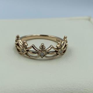 サマンサティアラ(Samantha Tiara)のサマンサティアラ ダイヤ K18 ピンキーリング(リング(指輪))