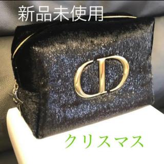 Christian Dior - ディオール クリスマス 黒 ゴールド ノベルティ ポーチ