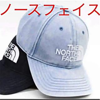 THE NORTH FACE - 【未開封新品】ノースフェイス キャップ インディゴ染め 刺繍ロゴ フリーサイズ