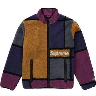Supreme - Reversible Colorblocked Fleece Jacket M