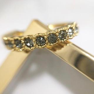 ブラックダイヤ ハーフエタニティリング(リング(指輪))