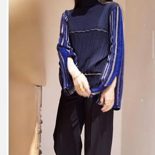 mame - mame Stripe HAMAGURI Knit Pullover