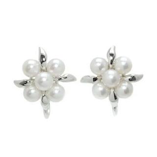 ミキモト(MIKIMOTO)の🉐お買得 半額以下 新品 未使用 ミキモト アコヤ真珠 銀製イヤリング(イヤリング)