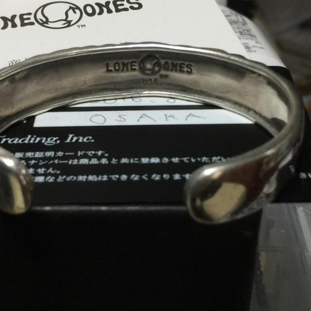 LONE ONES(ロンワンズ)のロンワンズ    ラブバイトカフバングル メンズのアクセサリー(ブレスレット)の商品写真