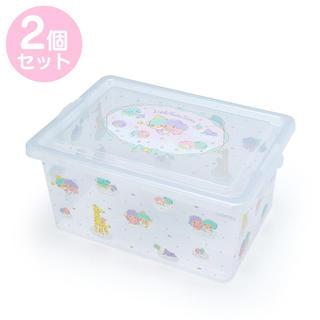 サンリオ - サンリオ✨フタ付き収納ケースL リトルツインスターズ☆2個セット
