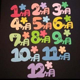 月齢カード『0ヶ月』~『12ヶ月』マンスリーカード ダイカット