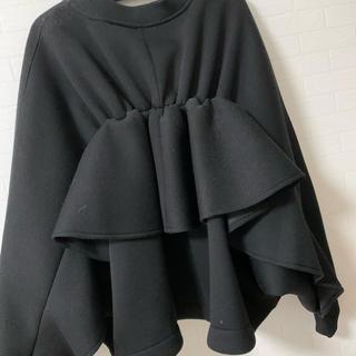SCOT CLUB - グランターブル 後ろフリルデザインジャケット MA-1 黒 ブラック スコット