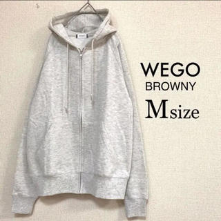 ウィゴー(WEGO)のMサイズ WEGO BROWNY⭐️新品⭐️ZIPパーカー オートミール(パーカー)