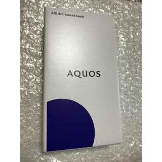 SHARP - UQ mobile AQUOS sense3 basic black shv48
