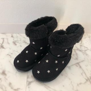 ミキハウス(mikihouse)の新品 ミキハウス   ムートンブーツ 16cm  黒(ブーツ)