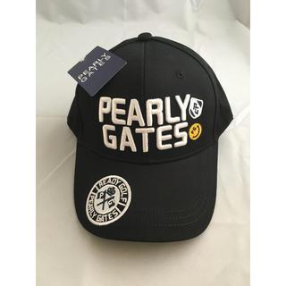 パーリーゲイツ(PEARLY GATES)のパーリーゲイツ 黒 キャップ 人気 ゴルフ 男女兼用 未使用 即日発送(キャップ)