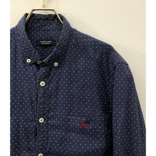 バーバリーブラックレーベル(BURBERRY BLACK LABEL)の美品 バーバリーブラックレーベル ホース刺繍 ボタンダウン ドット シャツ 3(シャツ)
