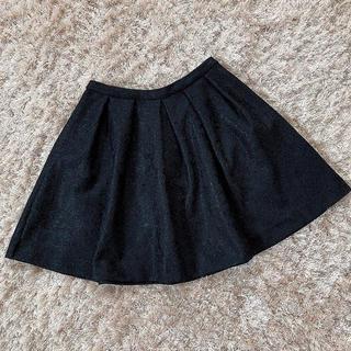 アンクルージュ(Ank Rouge)の今週限定 black race skirt(ひざ丈スカート)