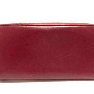 ラルフローレン(Ralph Lauren)のラルフローレン 長財布 レッド レザー(財布)