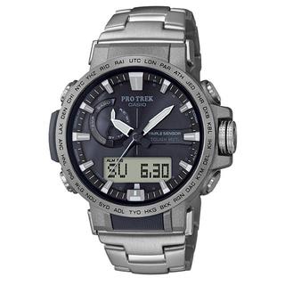 CASIO - カシオ プロトレック アナデジ クライマーライン 電波ソーラー 腕時計 シルバー