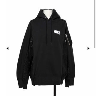 サカイ(sacai)の黒 M nike sacai hoodie(パーカー)