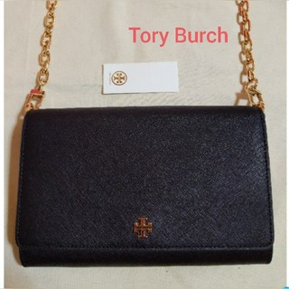 トリーバーチ(Tory Burch)の新品未使用 トリーバーチ チェーンウォレット お財布ショルダー ブラック(ショルダーバッグ)