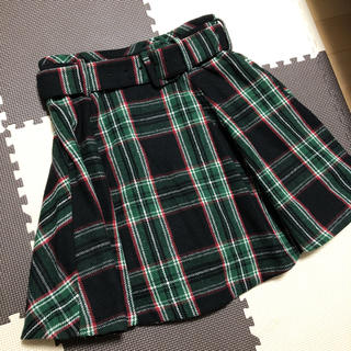 レディアゼル(REDYAZEL)のベルト付き チェック柄ミニスカート(ミニスカート)