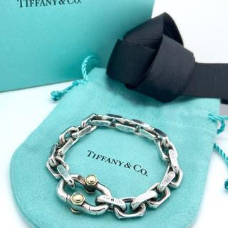 Tiffany & Co. - 美品 限定版 ティファニー ワイド チェーン ブレスレット KK28