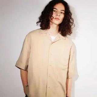 ハレ(HARE)のHARE ハレ サテンカイキンシャツ オープンカラーシャツ ベージュ(シャツ)