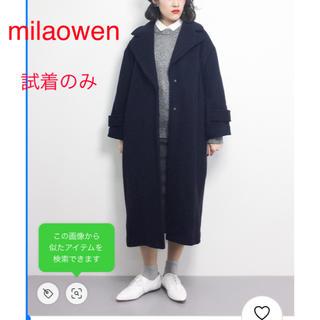 ミラオーウェン(Mila Owen)のmilaowen ミラオーウェン コート ロングコート ネイビー(ロングコート)