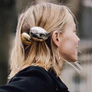 silver hairpin ヘア アクセサリー バレッタ シルバー