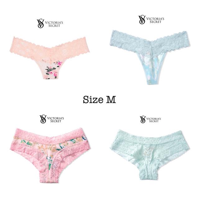 Victoria's Secret(ヴィクトリアズシークレット)のストレッチコットン レースウエストソング♡ピンクレオパードフローラル レディースの下着/アンダーウェア(ショーツ)の商品写真