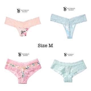 ヴィクトリアズシークレット(Victoria's Secret)のストレッチコットン レースウエストソング♡ピンクレオパードフローラル(ショーツ)